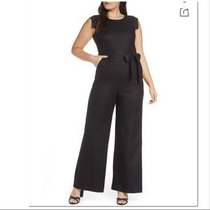 J. Crew 365 Resume black Linen Blend Jumpsuit 24